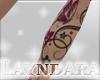 *L* Flower Tattoo leg