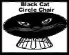 Black Cat Circle Chair