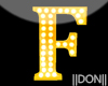 F YELLOW LETTER LAMPS
