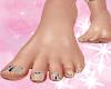 ! Bare Feet Snake Nails