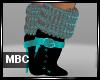 Aqua Fur Boots