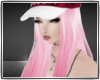 {J.E} Hat Hair Pink
