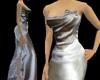 SN Platinum Satin Gown