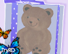 🦋 Bear gift Lila bow