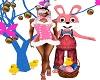 Poka Dots Pink Bunny