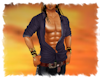 !Pirate sexy denim shirt