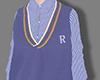 Blue sweater+shirt