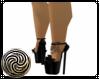 Black Bow Tattoo Heels