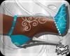 ! Turq Silver Heels