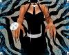 Black & Tan Zebra Nails