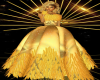 Gold Feather Gown