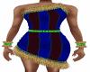 Blue Feather Dress