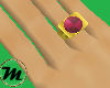 [M] Rose Zircon Ring