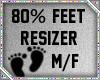 80% Foot Scaler