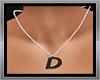 Necklace letter D