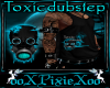 M teal toxic dubstep top
