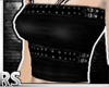 ; Belted Black Tube Top