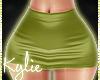 RL Khaki Leather Skirt