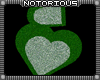 Stacked Green Hearts