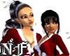 Sticker Chicas Noel