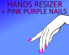 hands resizer purple