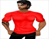 Muscled Polo Red Shirt