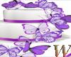 Purple Butterflies Cake