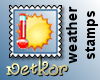 Weather Stamp Hot