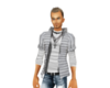 {CB} Grey Stripped Shirt