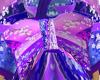 Purple Front Kimono Bow