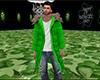 Green Coat with Fur (M)