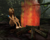 campfire with 4 poses