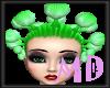 Green lollipop hair