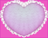 frilly heart pillow