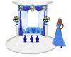 Wedding pose blue rose