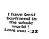 I love my boyfriend sign