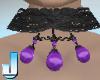 Burlesque Choker -Purple