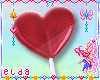 Kids Red Heart Lollipop