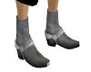 Grey Black Boots