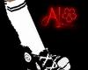 Knee High Sock - W w/ B
