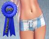 Blue stripe RLS shorts