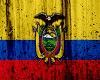 Ecuador Flag Grunge Art