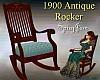 Antique 1900 Rocker Blue