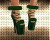 Green Fur Christmas Shoe