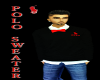 (DD) polo sweater red