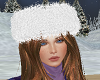 TF* White Fur Crown Hat