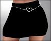 Black Skirt w Heart Belt