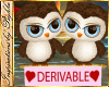 I~Dev Cute Owls*Blue