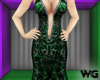 Silver Foil Gown Green