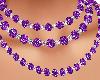 collar perlas lilas